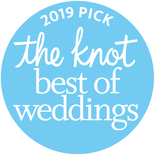 Awarded Best of Weddings by The Knot for 2019